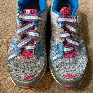 Kids gently used New Balance running shoes